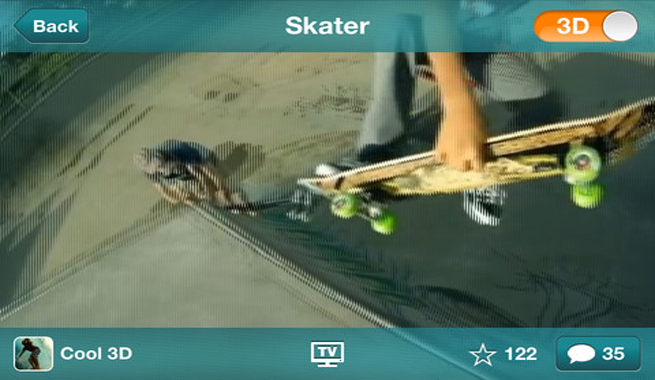 Scubo app 3D iPhone