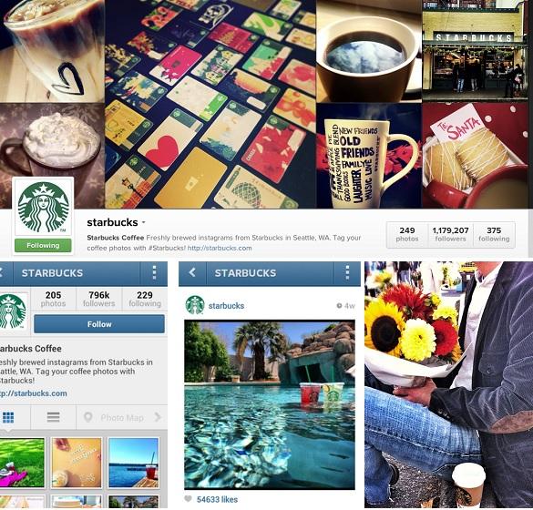 Starbucks en Instagram