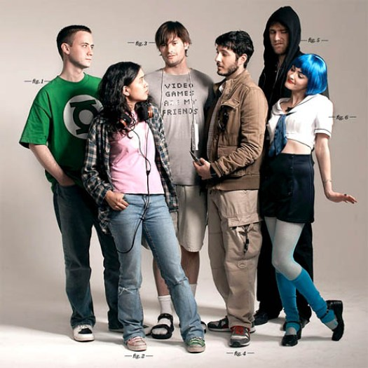 Seguramente estos son frikis y geeks reales con diferentes gustos: cosplay, star wars, cómics...