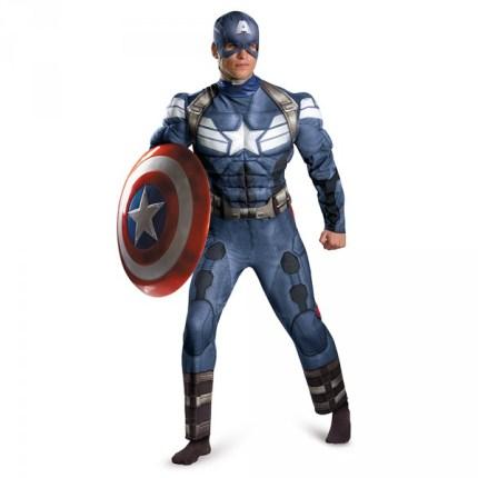 Disfraz de Capitán América Soldado de Invierno musculoso
