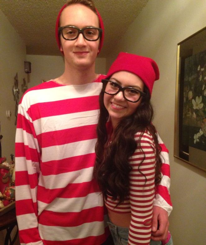 Disfraz pareja Donde está Wally