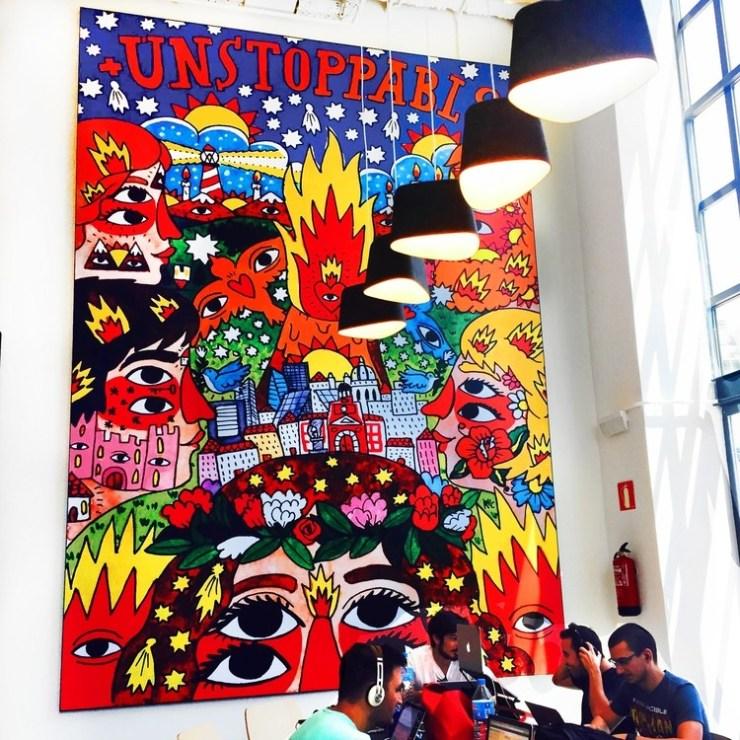 Ricardo Cavolo Mural en Google Campus