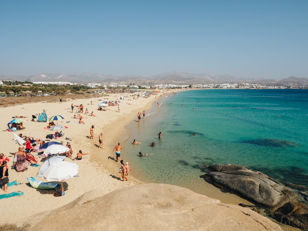 Pláž v Agios Prokopios, Naxos
