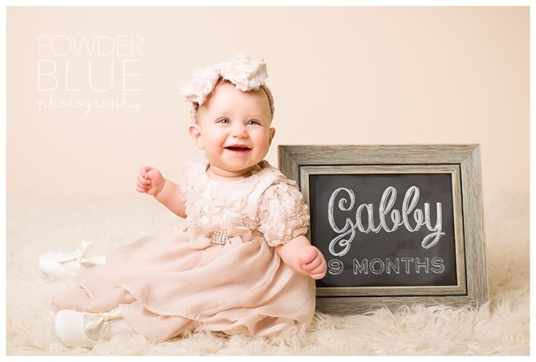 Baby Girl Studio Session | Gabby 9 Month Sitting Portrait | Wexford Baby Photographer