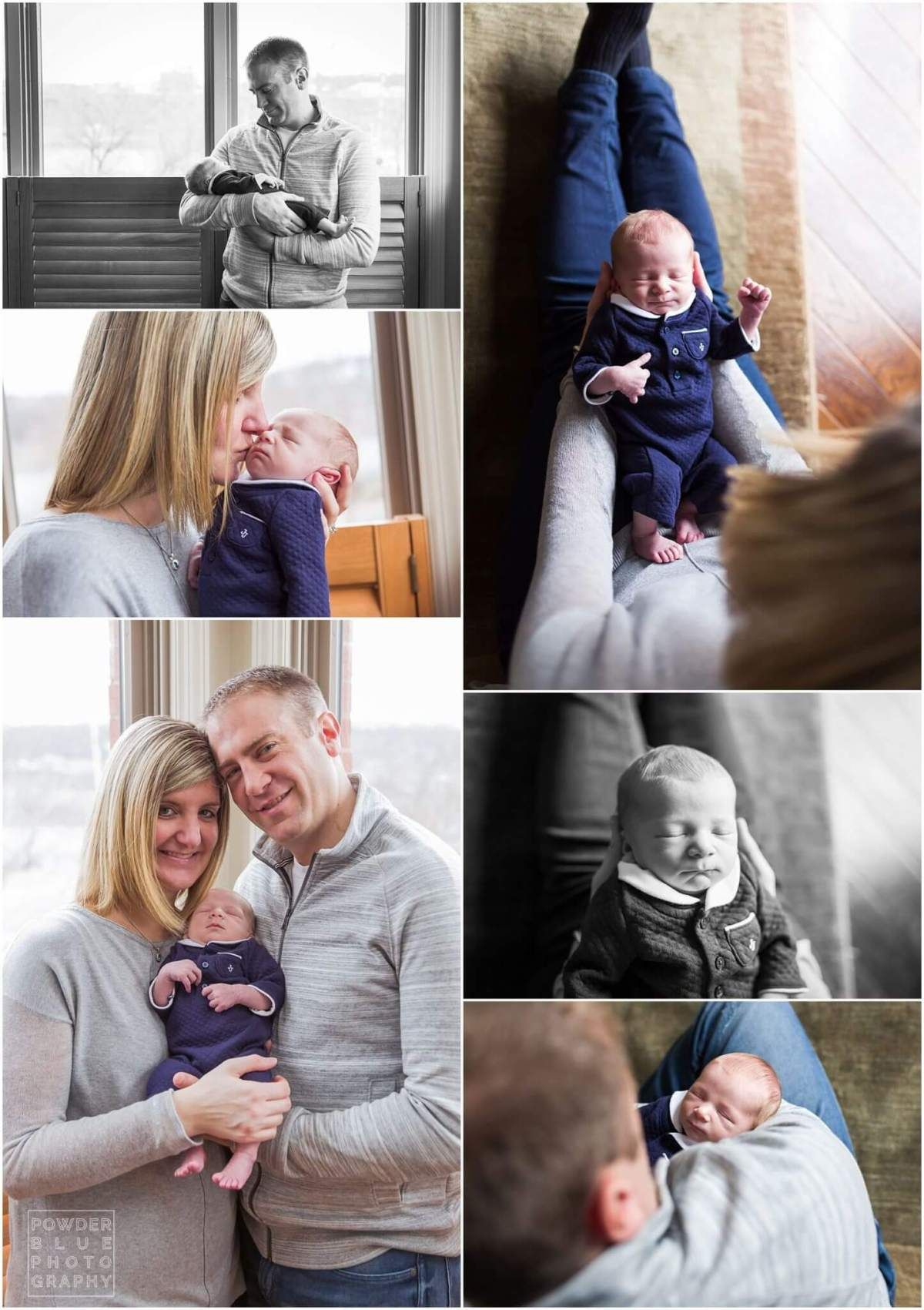 pittsburgh newborn photography session in home. baby boy born in pittsburgh, Sports nursery theme.