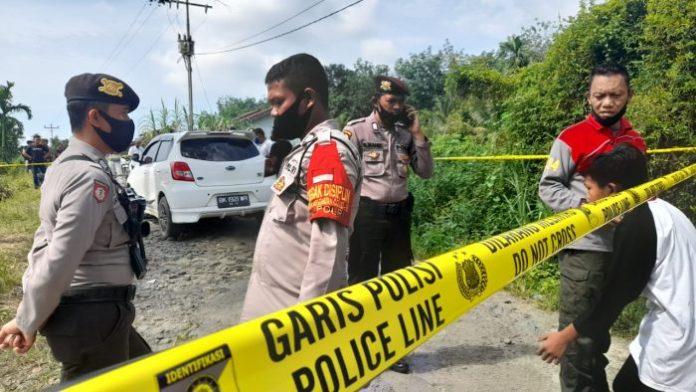 Lokasi Penembakan Marsal Dijaga Ketat Polisi di Karang Anyar Simalungun
