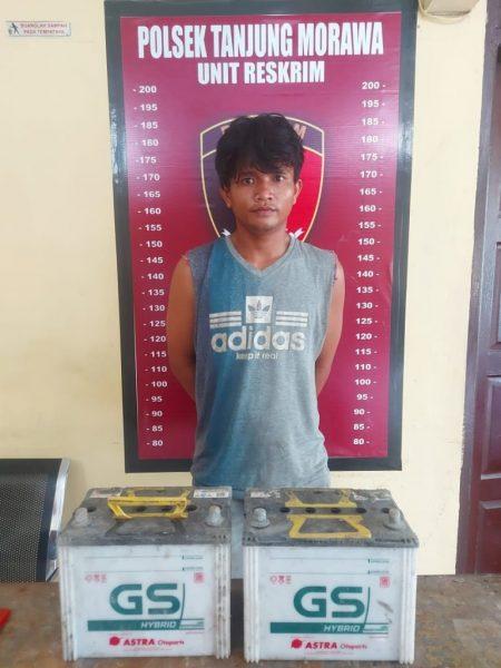 Pencuri Baterai Dump Truk Diciduk Polsek Tanjung Morawa