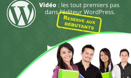 Débuter avec WordPress, tuto vidéo