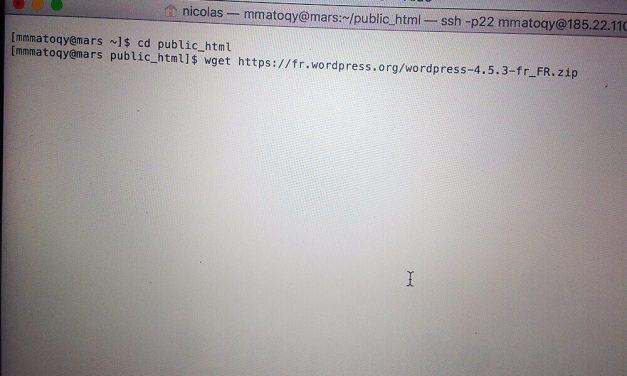 Installer WordPress plus rapidement grâce à SSH et WGET
