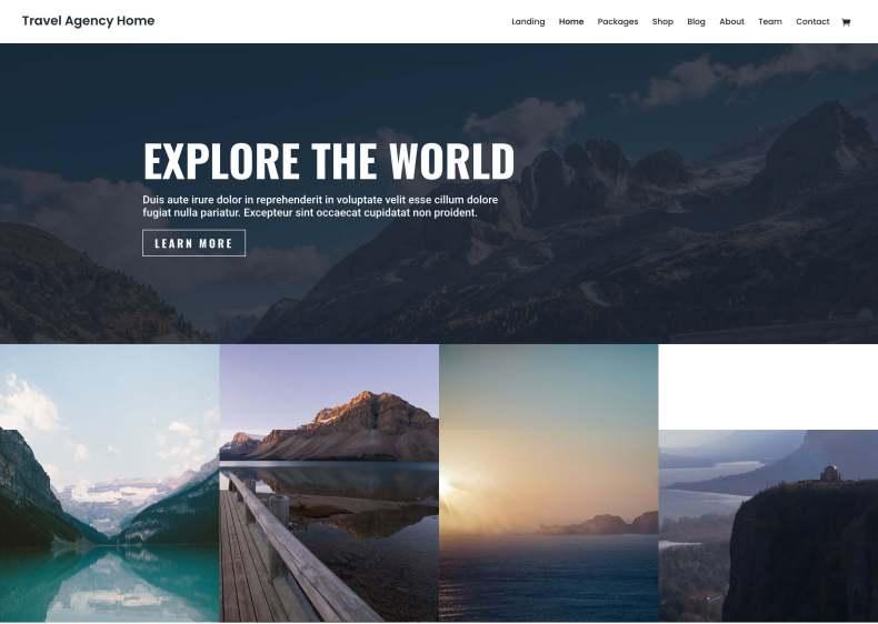 Divi: el mejor tema para un blog de viajes minimalista