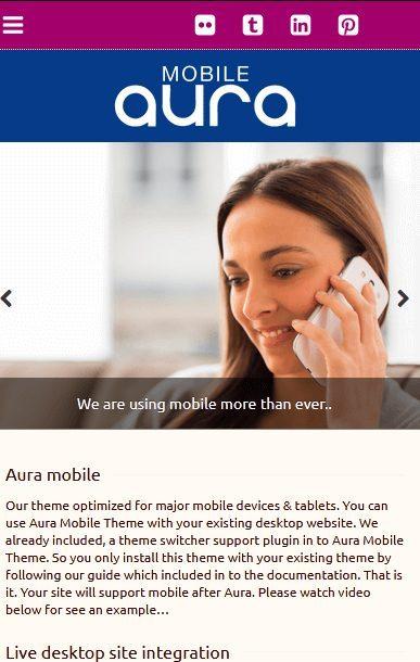 """Aura: el mejor tema para crear un sitio web típico """"aplicación movil"""""""