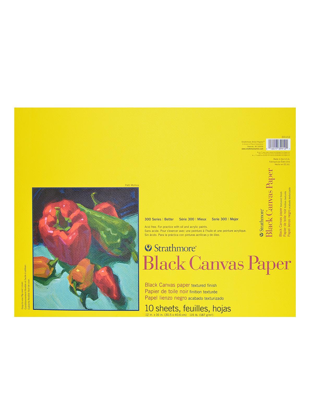 Strathmore 300 Series Black Canvas Paper