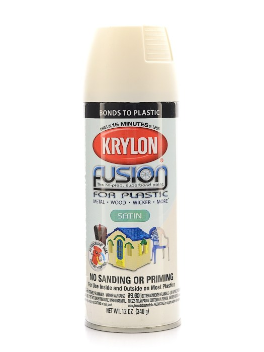Fusion Spray Paint For Plastic Dover White Satin