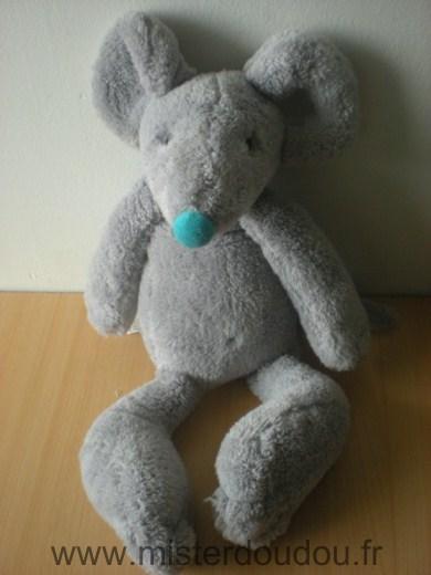 doudou souris happy horse gris bleu