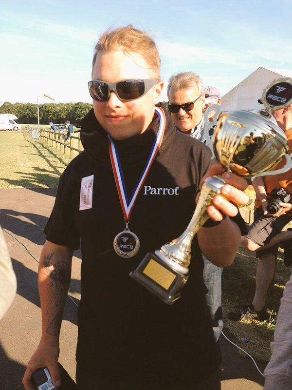 Pablo Sotes à un championnat de Drone