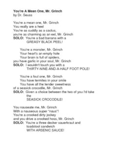 thumbnail of You're A Mean One Mr. Grinch Lyrics