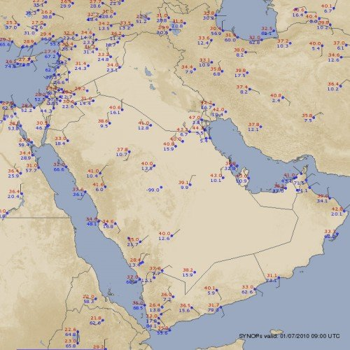 Middle East Weather Observations