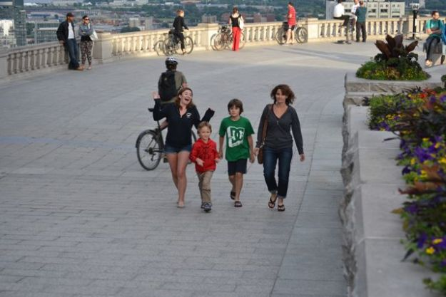 Elysha, Jeremy, Carter, and Jaine in Montreal, 2013.