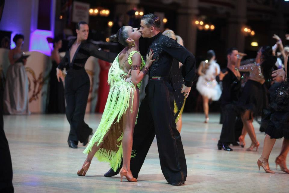 coppia di danza sportiva a Blackpool