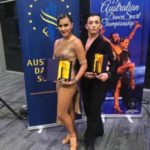 Edoardo Fioretti & Irene Mancini Vice Campioni Australiani Latin