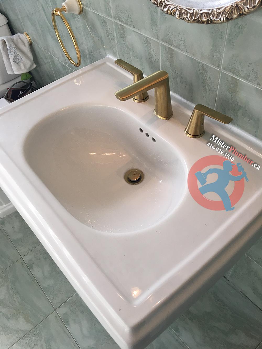 pedestal sink faucet replacement