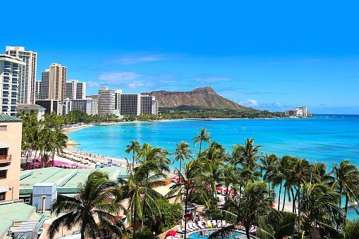 Waikiki- tourism in Hawaii