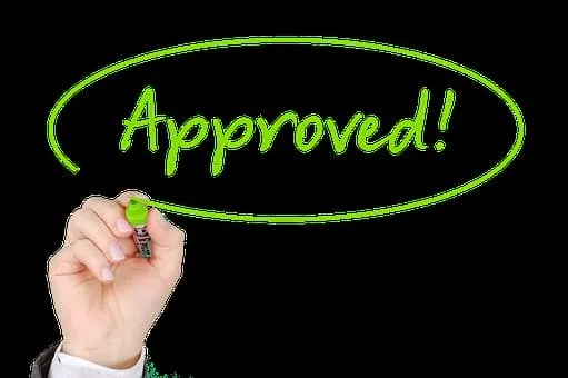 credit matter- approved sign