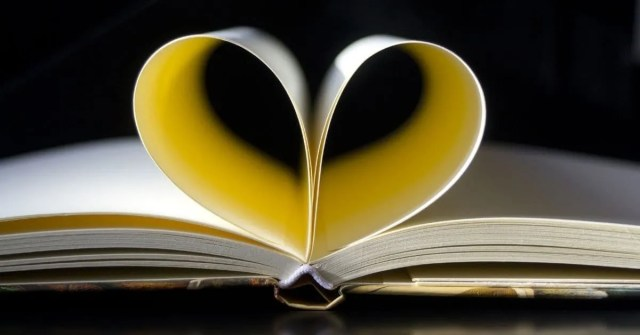 book with heart shape page