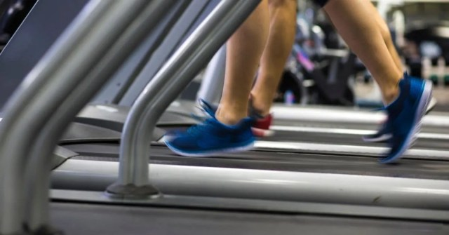 People running on treadmill for abs