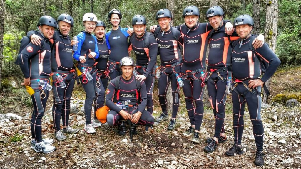 Canyoning-Truppe