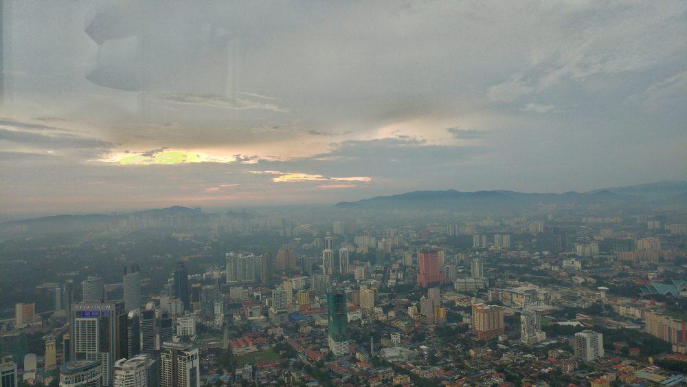 Kuala Lumpur im Schein der untergehenden Sonne.