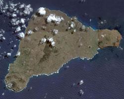 Το νησί του Πάσχα έτσι όπως φαίνεται από δορυφόρο.