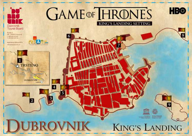 trono di spade - game of thrones - croazia