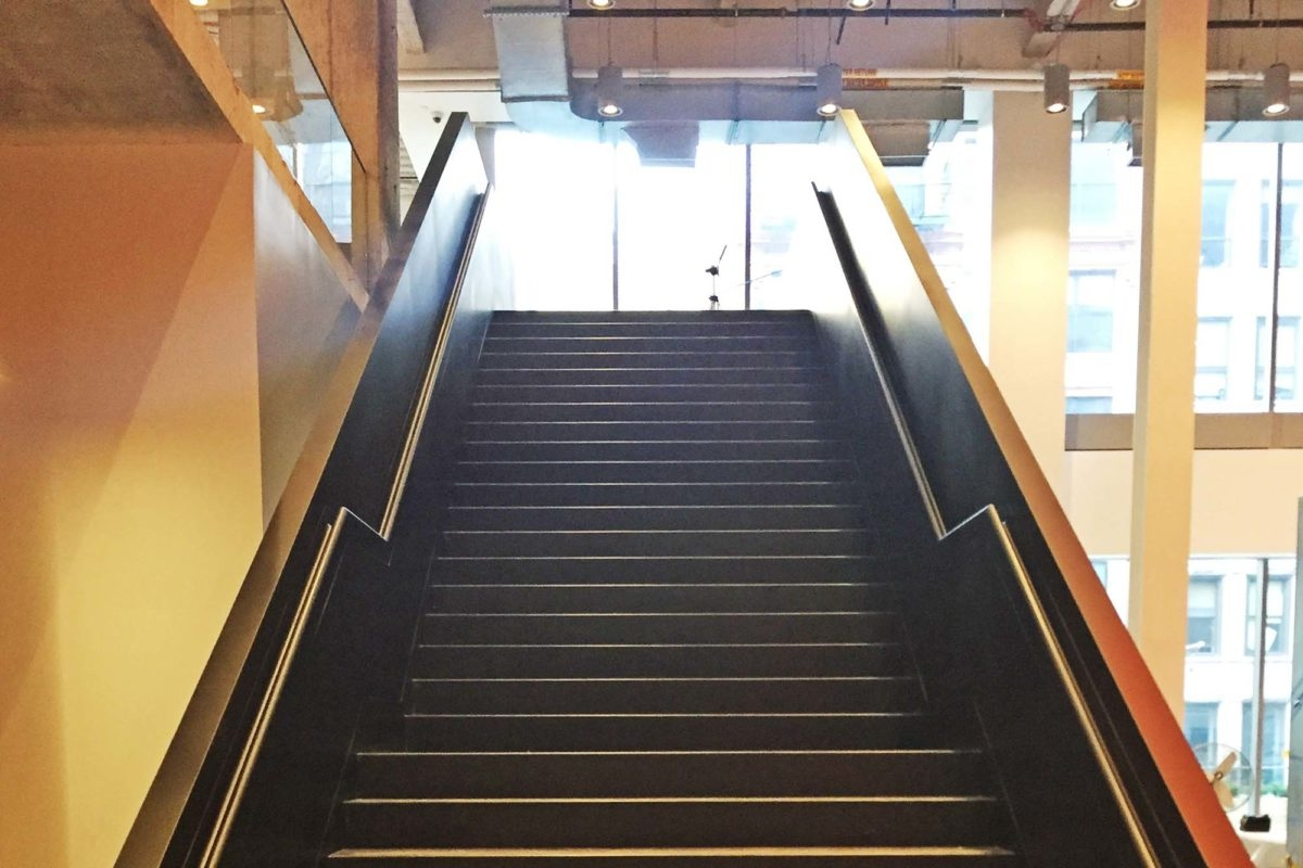 Nike Corporate – Mistral | Structural Steel Stair Design | Steel Construction | 4 Column Steel | Detailing | Steel Staircase | Small Space