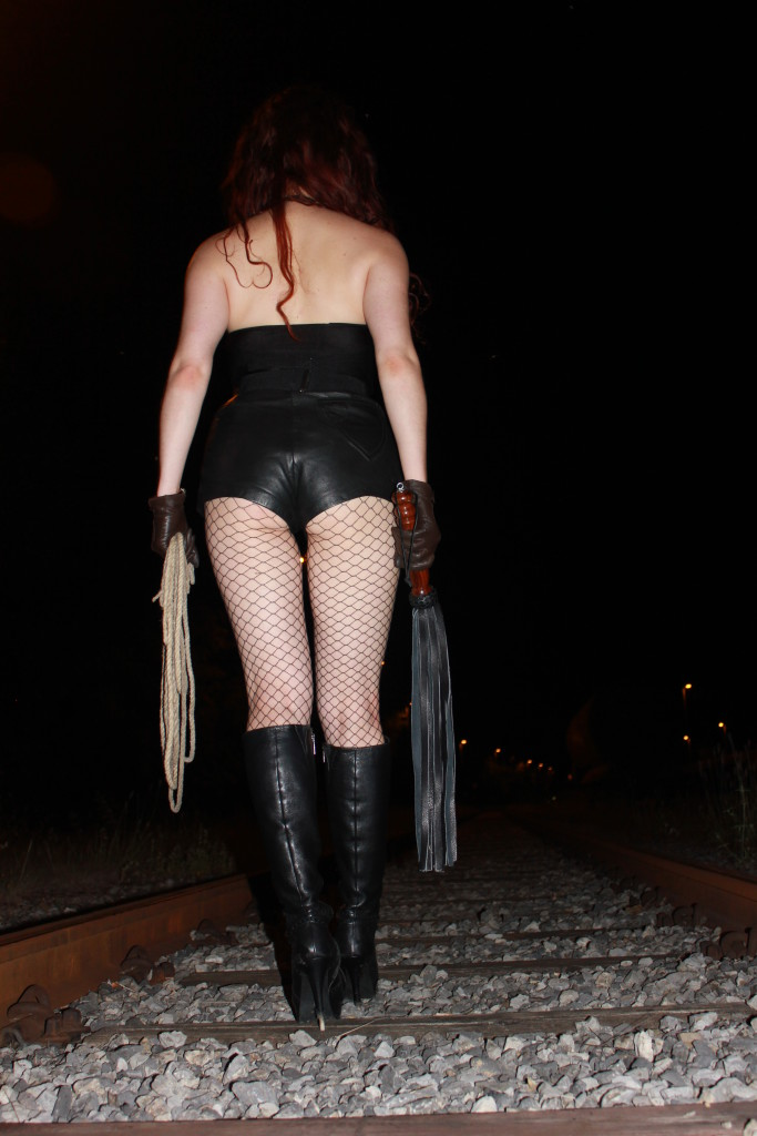 In Leather Mistress Myra The Playful Madame