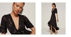 Lottie Dress, Black. The Reformation. https://www.thereformation.com/products/lottie-dress-wildflower