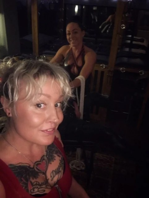 Leeds Mistress Firefly & Mistress Candy Leeds dressed in latex.