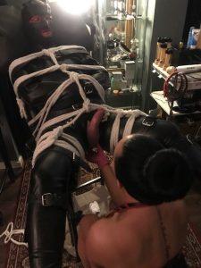 Professional Mistress Candy Leeds resident Dominatrix at the Leeds BDSM playroom.
