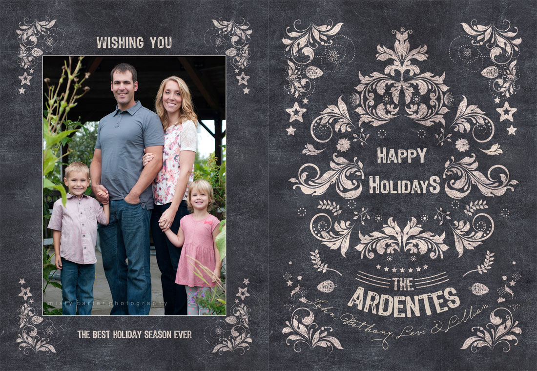 Holiday Cards Made Easy Modern Senior And Family