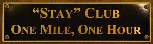 The Stay Club plaque at Misty Pines