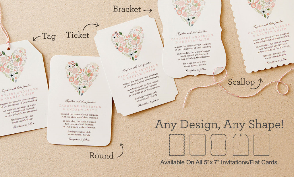 Invitation Shapes and Sizes mistyqe