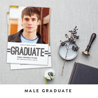 Male Graduation Announcements