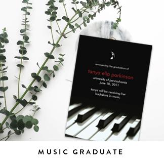 Music Graduation Announcements