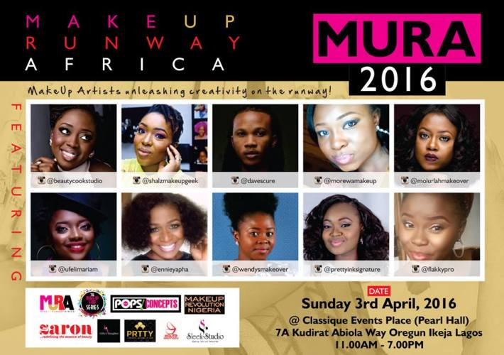 Watch Makeup Artist unleashing creativity on the runway at MakeUp Runway Africa (MURA) 2016