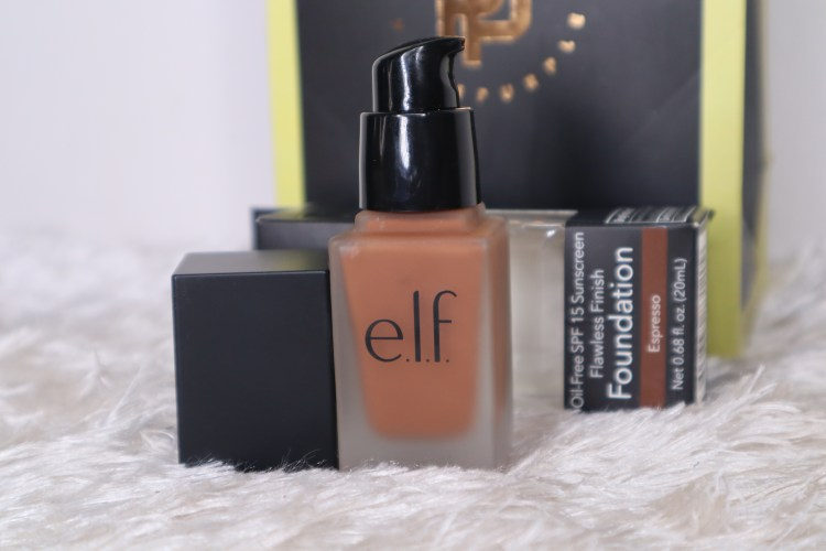 ELF OIL-FREE SPF 15 SUNSCREEN FLAWLESS FINISH FOUNDATION REVIEW AND SWATCHES
