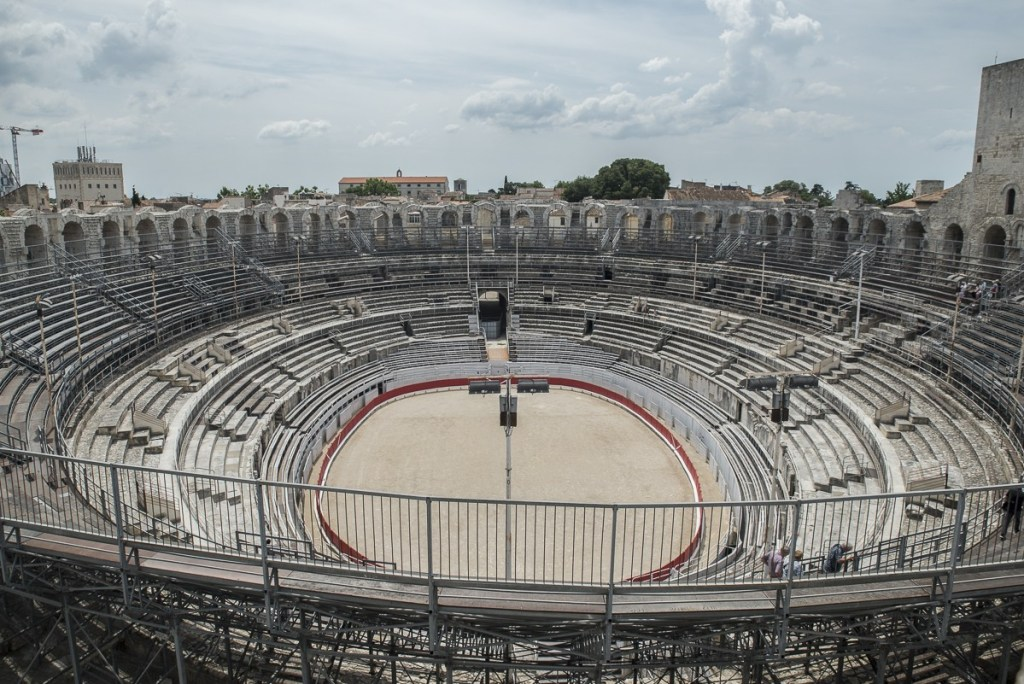 Arena vom Nordturm - Arles