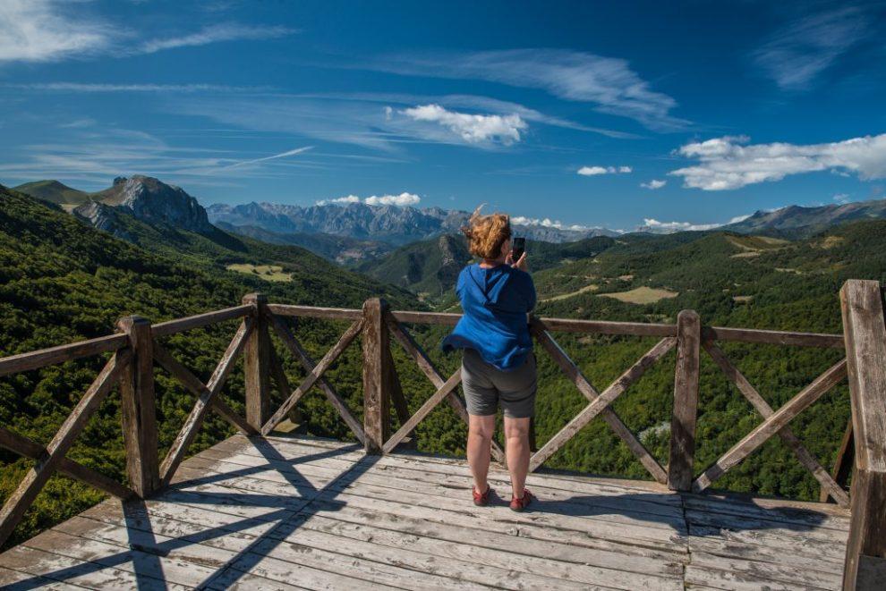 Aussichtsterrasse -Mirador de Piedraluengas