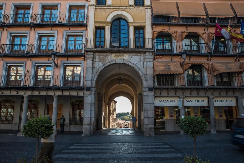 Blick nach Westen Plaza de Zocodover - Toledo