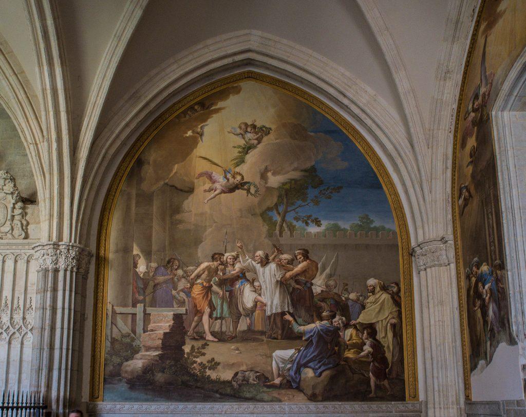 Fresko im Kreuzgang - Kathedrale von Toledo