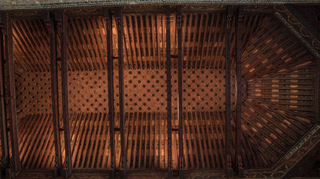 Decke Große Halle - Synagoga del Tránsito Toledo